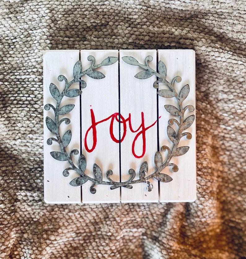 Decorative Christmas Joy Sign image 0
