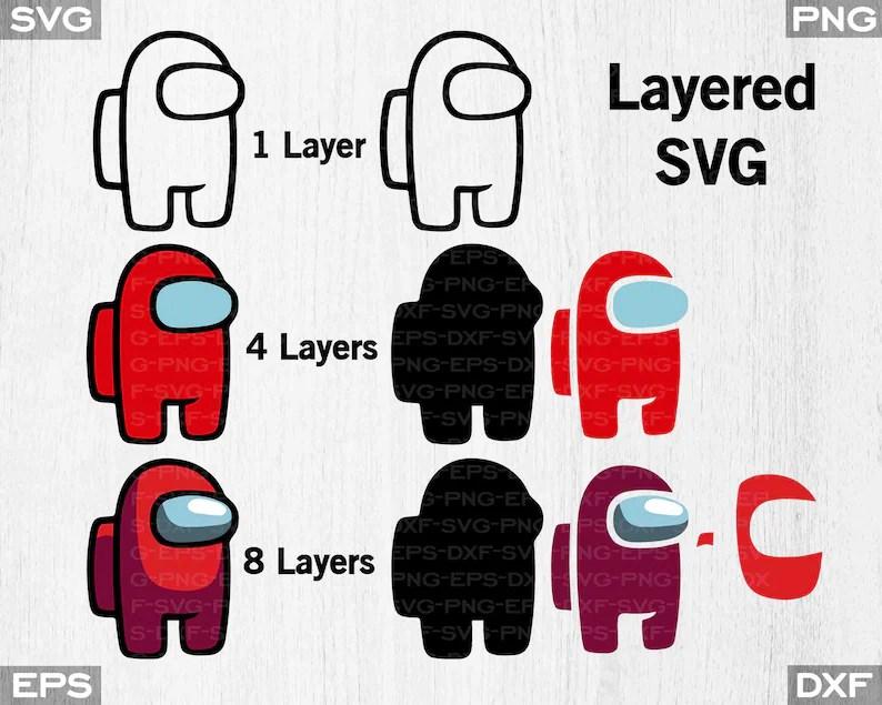 Download Among Us Layered Among Us SVG Video Game Svg Decal Mug   Etsy