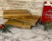 Hand Crafted Live-edge Maple Charcuterie Board Trivet set of 3