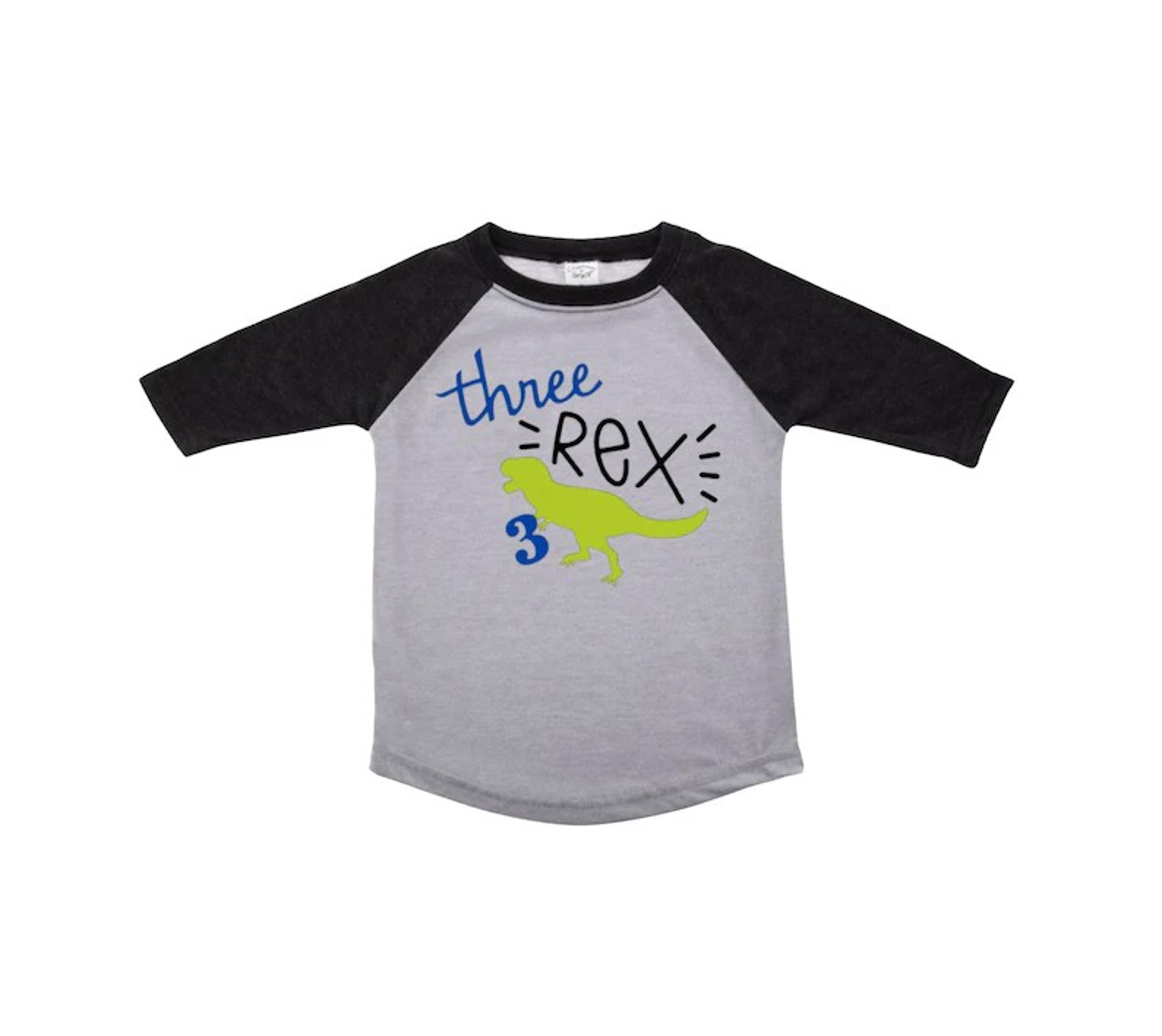 Toddler Birthday Boy Customized Birthday Shirt Third Birthday T Rex 3rd Birthday Raglan Dinosaur Theme Party Three Rex Graphic Tees T Shirts