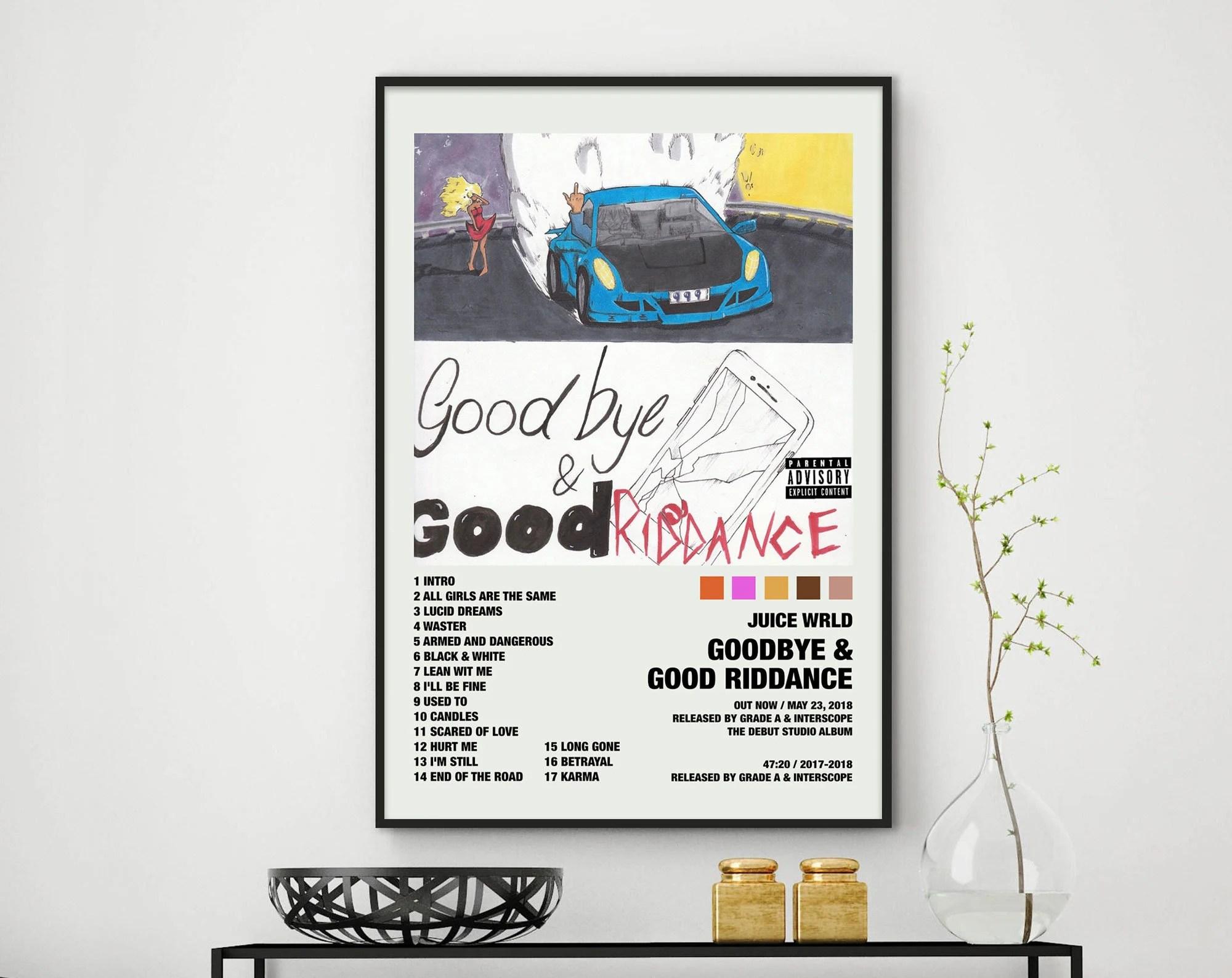 juice wrld death race for love poster