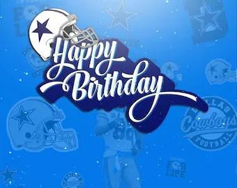 Dallas Cowboys Birthday Cards Etsy