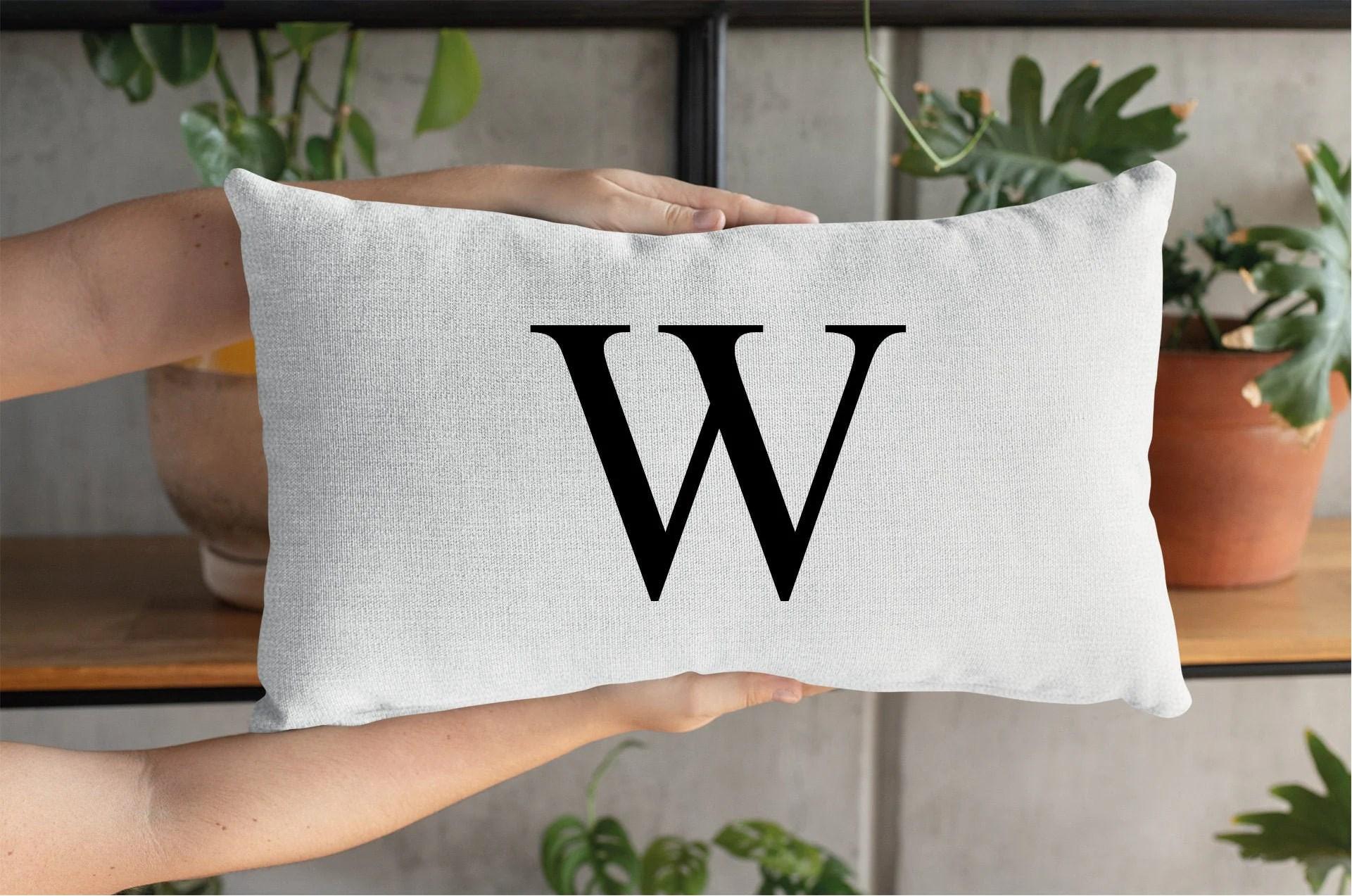 initial pillow case initial pillow
