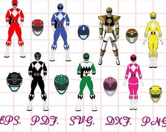 Power Rangers Bday Etsy