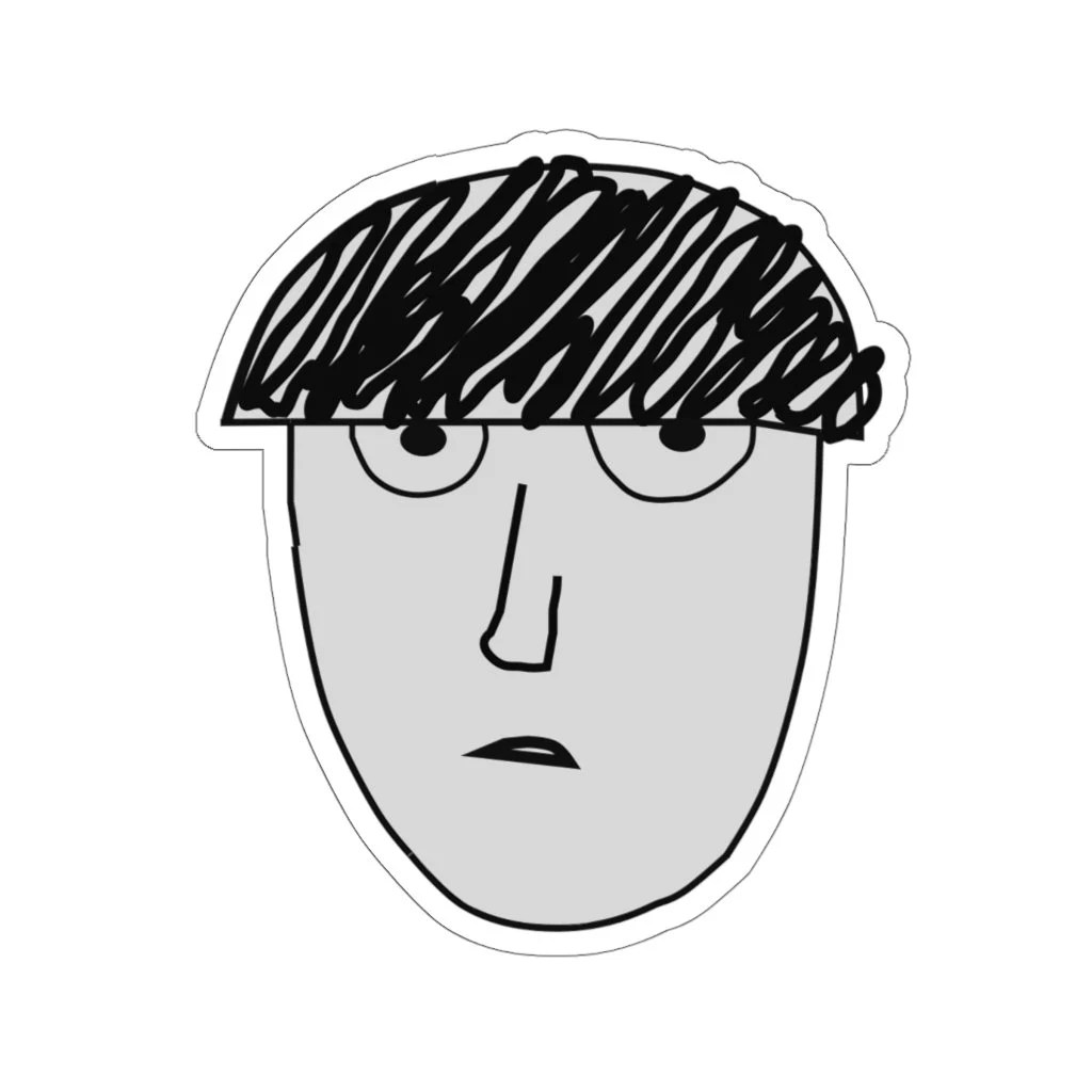 mob psycho 100 wanted poster laptop sticker
