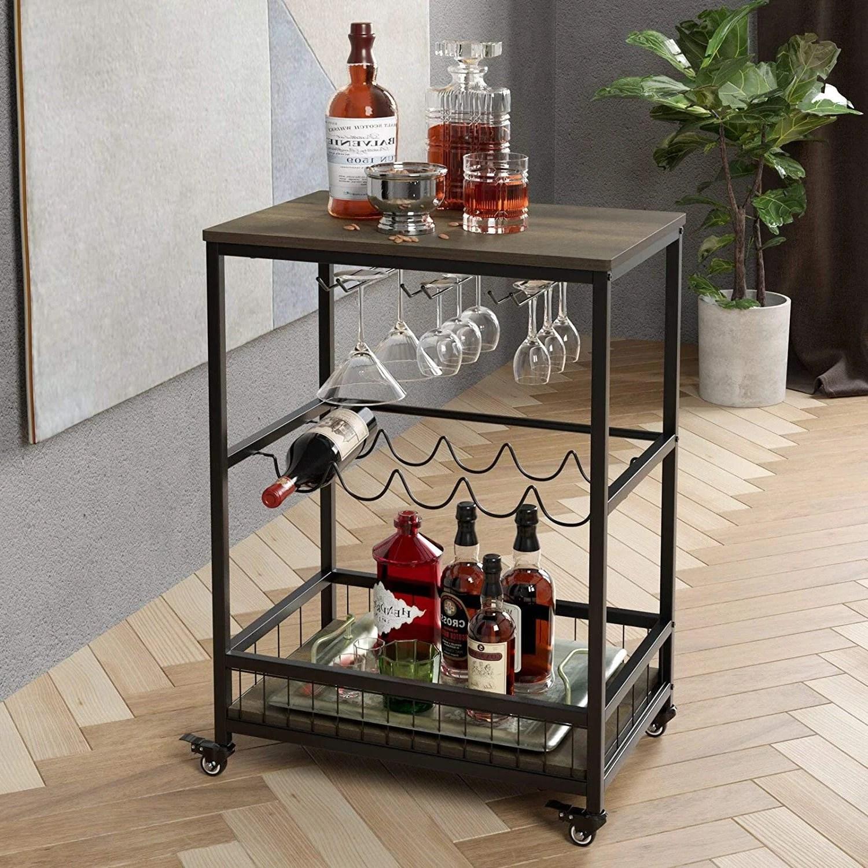 bar cart wine holder etsy