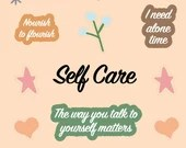 Self Care Digital Stickers for Goodnotes, Goodnotes Stickers, Digital Stickers