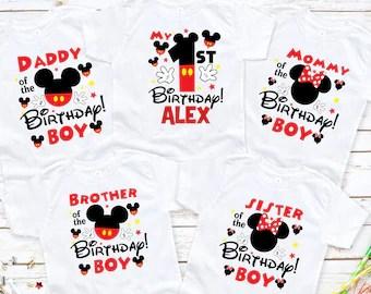 Mickey Mouse Birthday Shirt Etsy