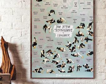 https www etsy com market jiu jitsu poster