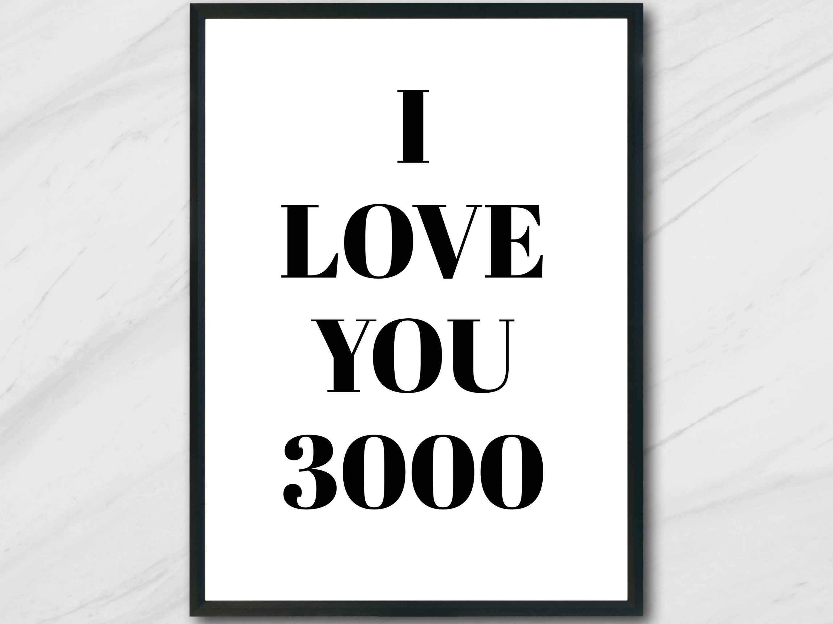 i love you 3000 poster etsy