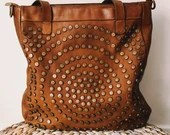 Rimini Handbag - Genuine washed and woven leather - Made in Italy - Vintage Style