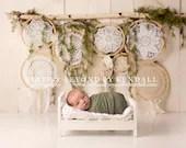 Dream Catcher Bed Newborn Digital Backdrops (3)