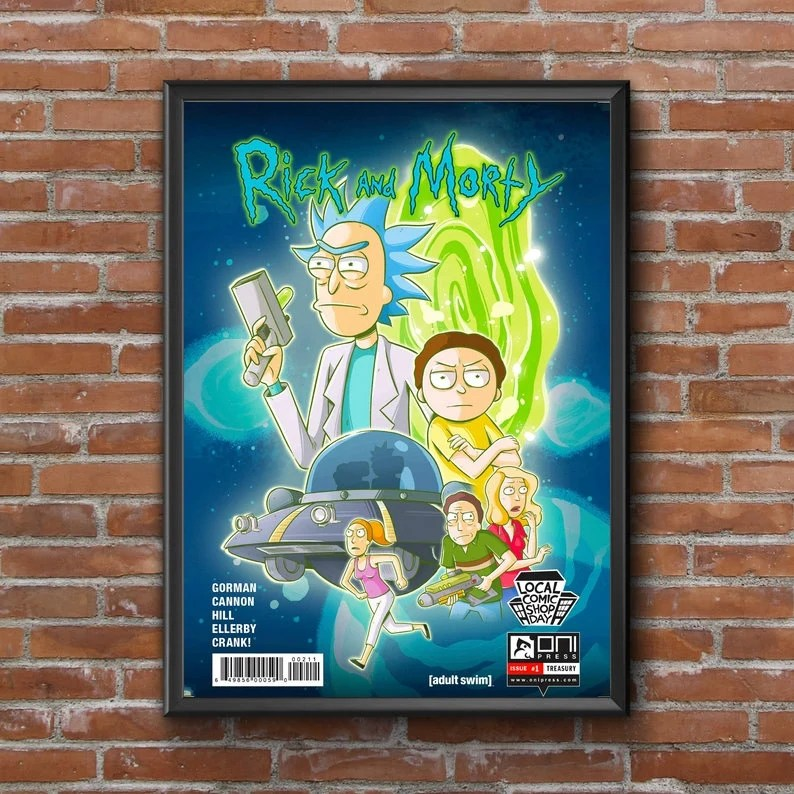 rick and morty poster etsy
