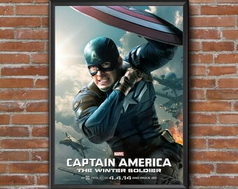 captain america movie poster etsy