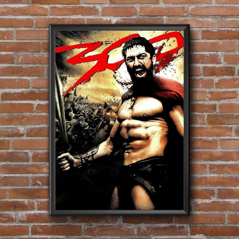 300 movie poster etsy