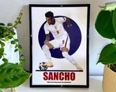 Jadon Sancho - England, Borussia Dortmund Football Poster, Football Print