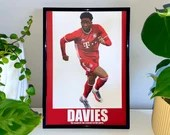 Alphonso Davies - Bayern Munich, Canada Football Print, Football Poster