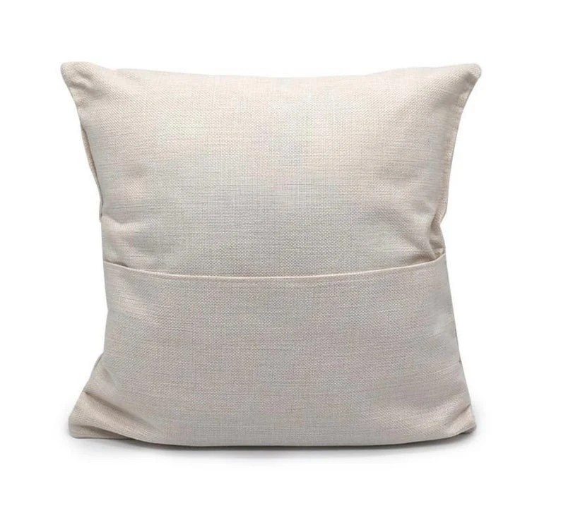 canvas pillow cover with pocket