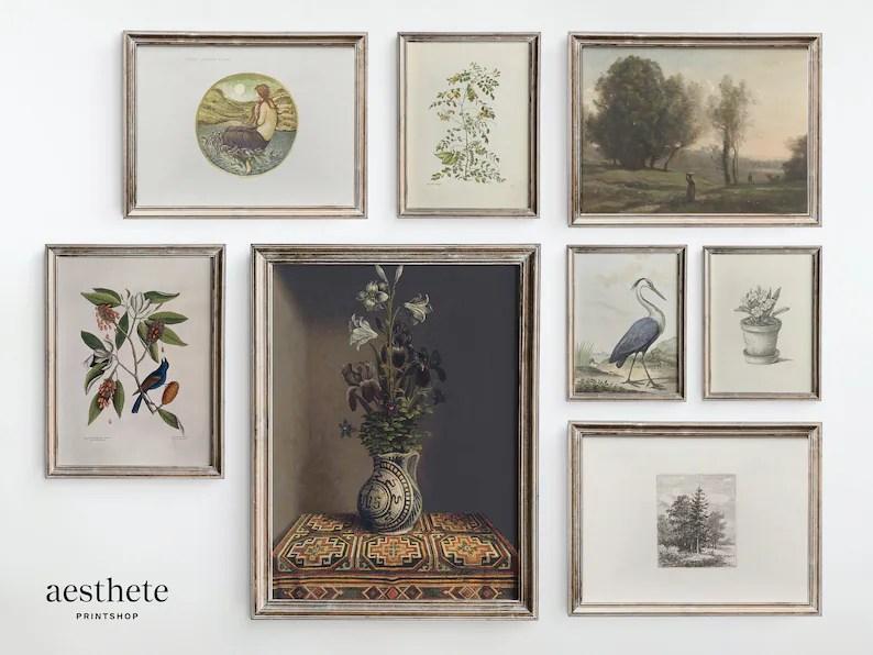 Vintage Gallery Wall Set Art Paintings Antique Printable image 0