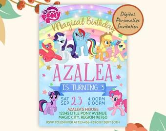 my little pony birthday invitations etsy