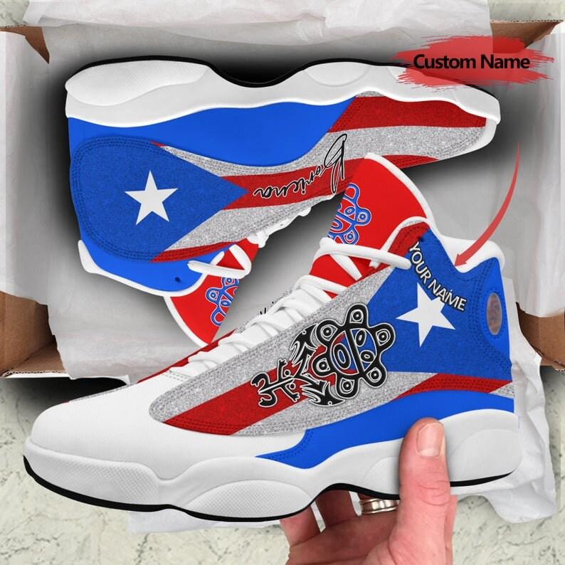Puerto Rico Jordan Shoes, Air Jordan 13, Flag Puerto Rico Shoes ...