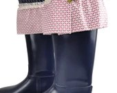 Blue violet rain boots with bows , Rain Boots, Rubber rain boots, Boots, Mud Boots, Personalized Mud Boots