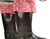 Brown rain boots with bows , Rain Boots, Rubber rain boots, Boots, Mud Boots, Personalized Mud Boots