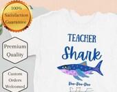 Teacher tshirt - Teacher Shark - Short-Sleeve Unisex T-Shirt