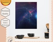 Wide Open Spaces -  Space Poster - Dorm room Galaxy poster - Perfect as a Back to school gift, College dorm gift , or Space lover gift