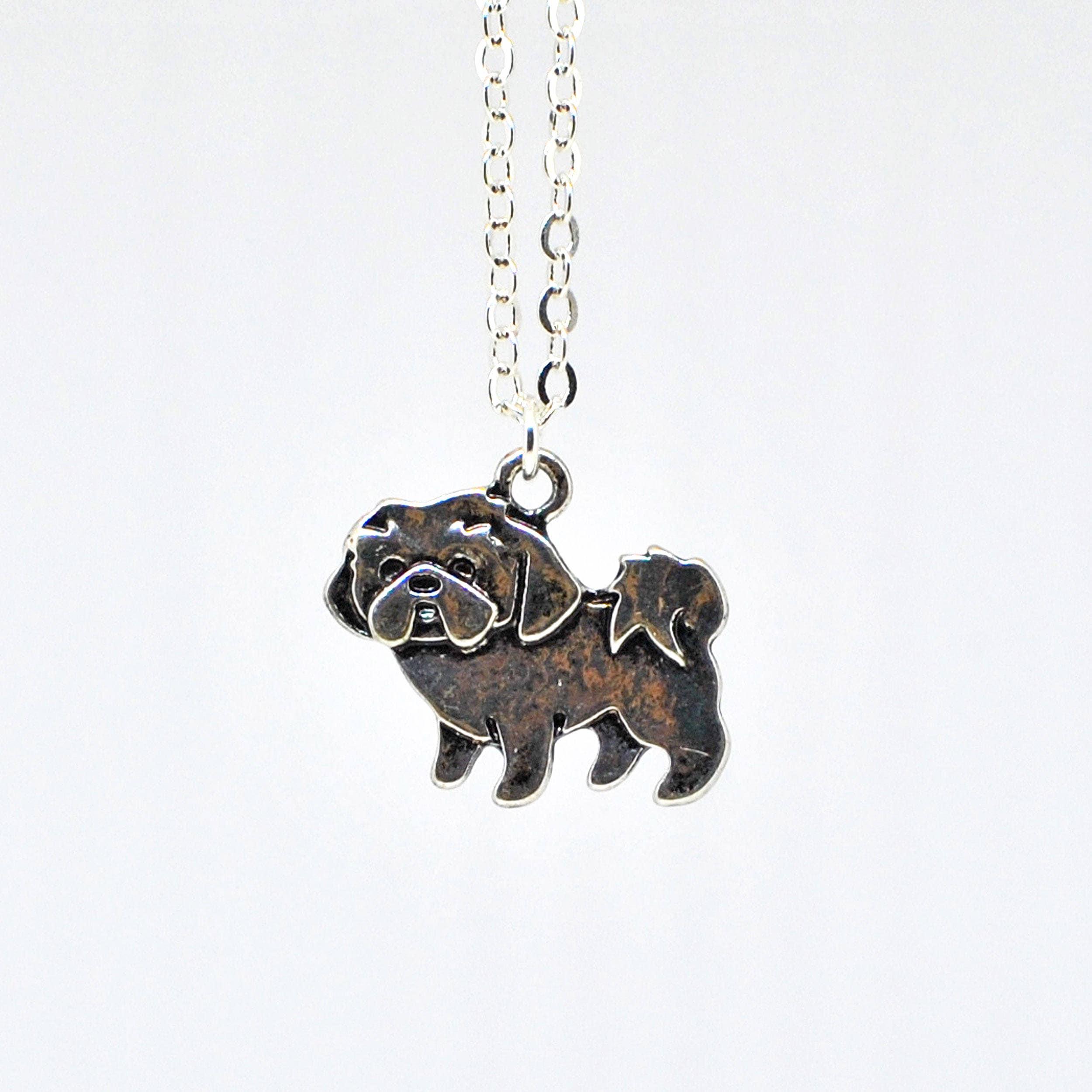 Shih Tzu Pendant Puppy Dog Necklace Bailey Chinese Lion