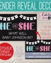 Personalized Gender Reveal Silly String Label He Or She Party Etsy