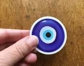 5 pack - Evil Eye Ward Emoji (Nazar) - Amulet Sticker - Waterproof