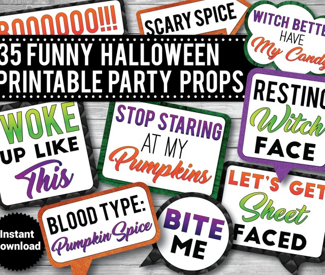Funny Halloween Photo Booth Props Printable Props Funny Adult Props Drinking Props Instant Download