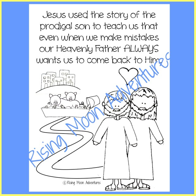 Prodigal Son Coloring Page Download