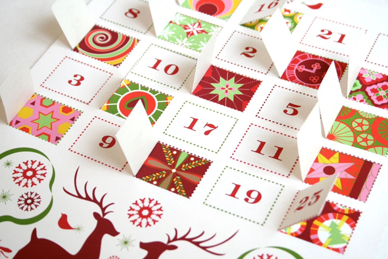 Modern Advent Calendar Printable
