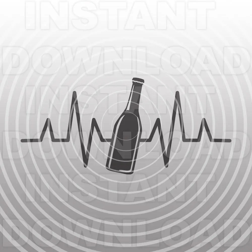 Download Beer Heartbeat Love SVG FileMicro Brewery SVGCraft Beer ...