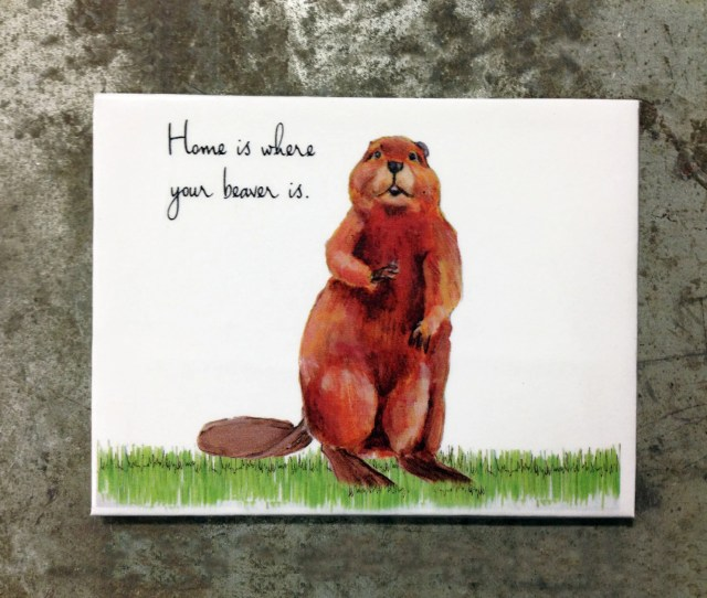 Home Is Where Your Beaver Is Refrigerator Magnet