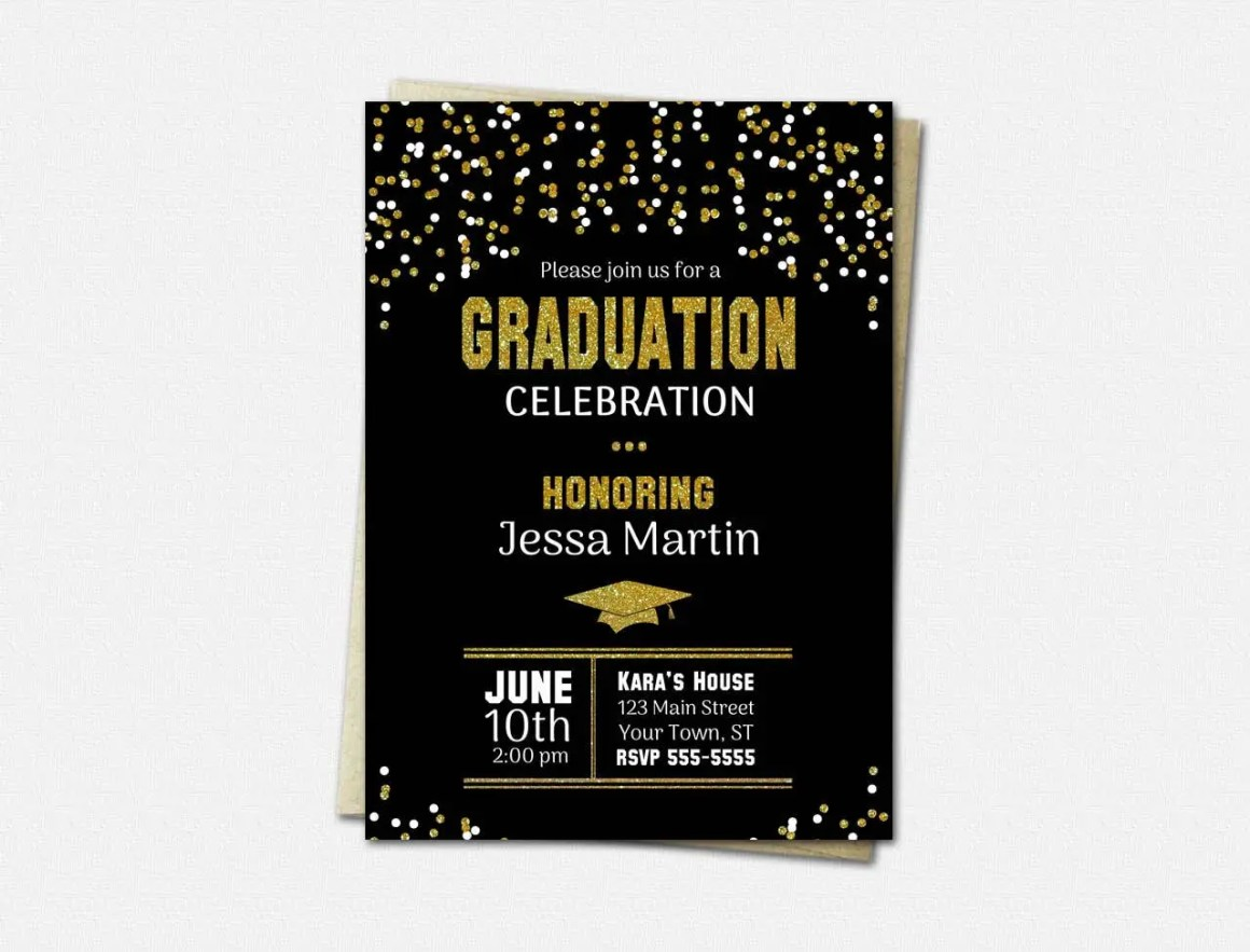 Black & Gold Graduation I...