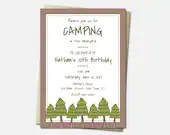 Camping Invitations - Bir...