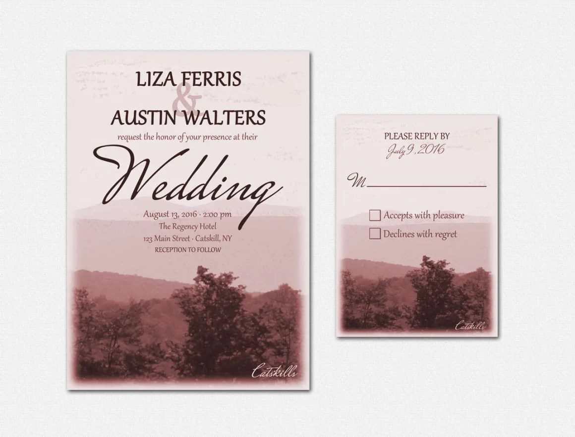 Catskills Wedding Invitat...