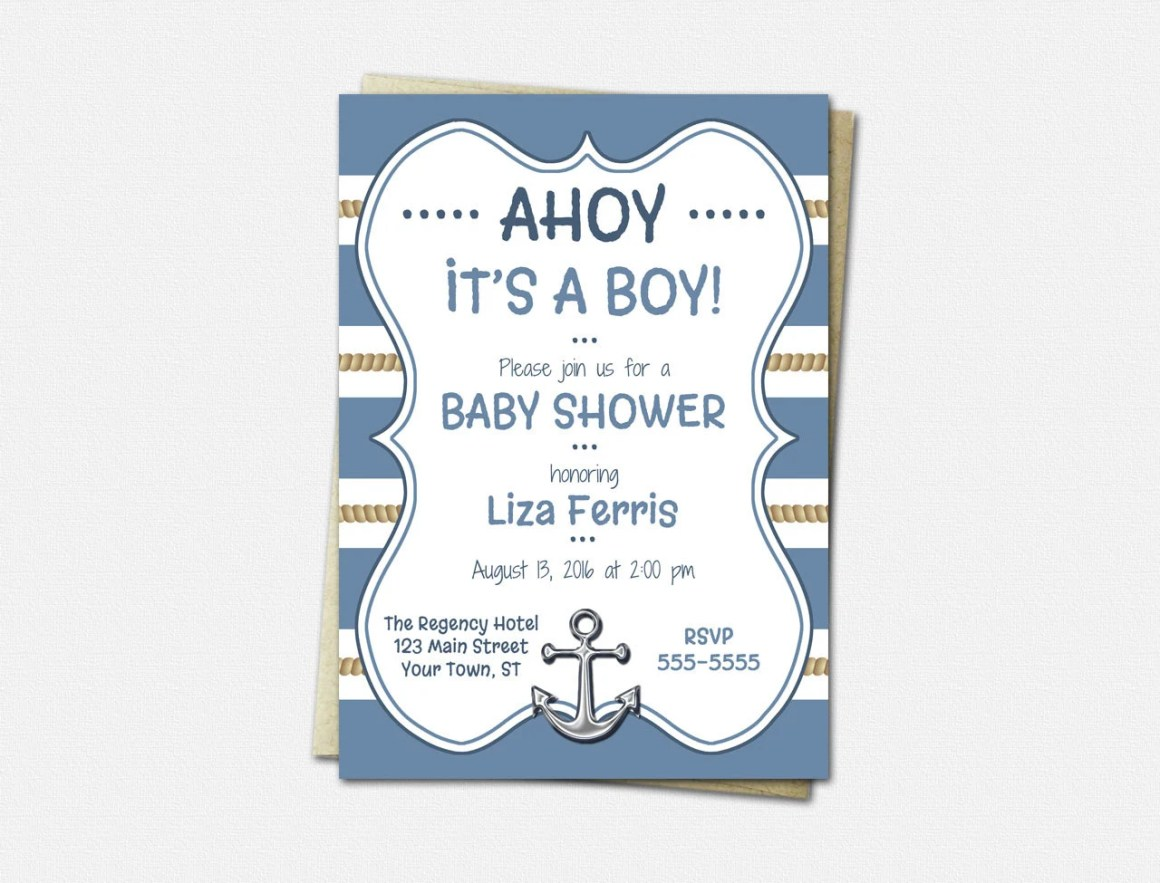 Nautical Baby Invitations...