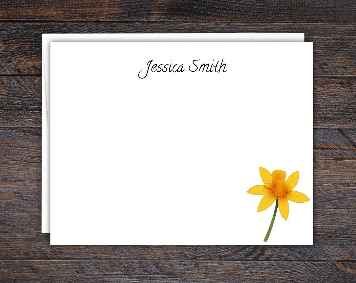 Flat Note Card Set | Daff...