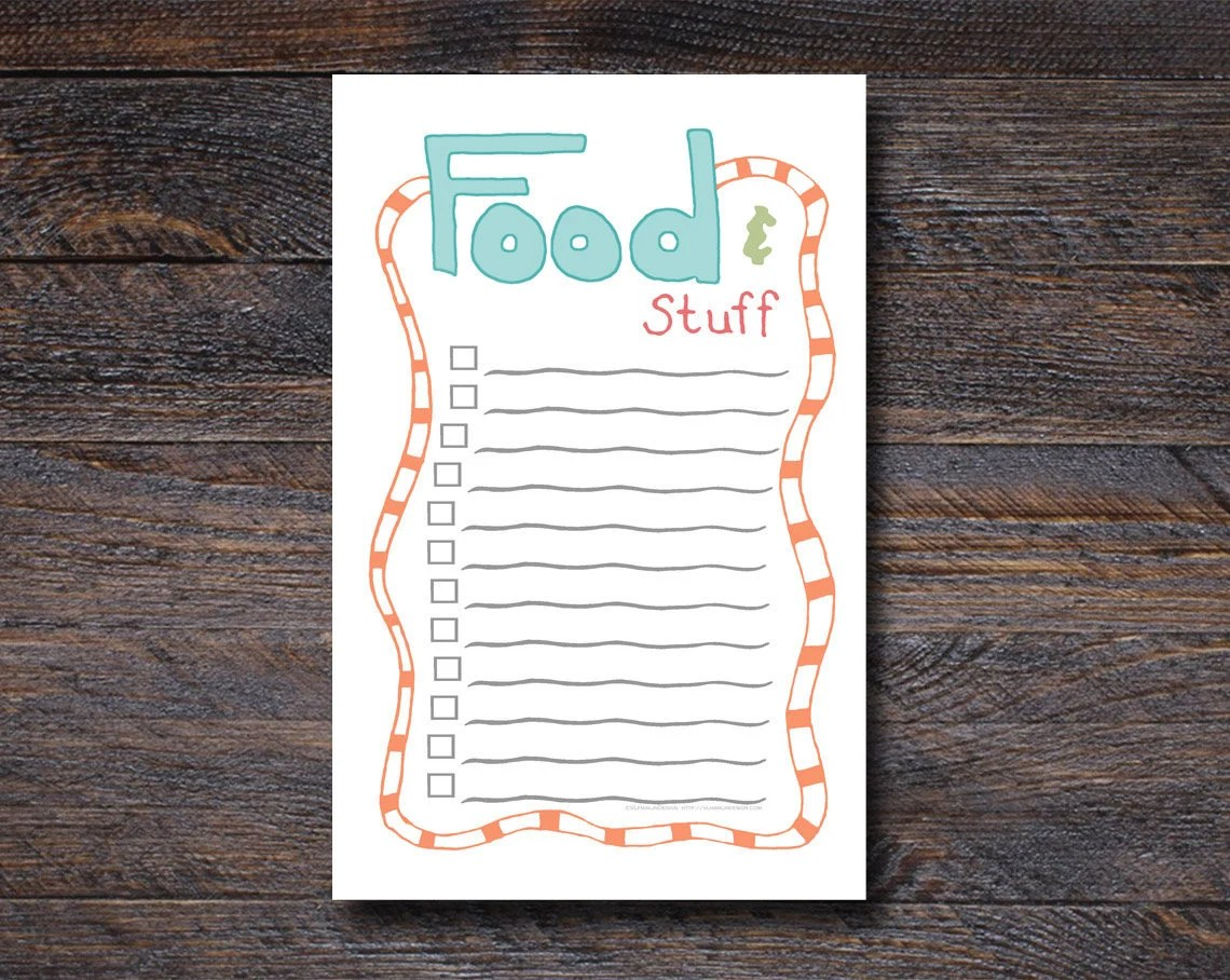 Food & Stuff Grocery List...