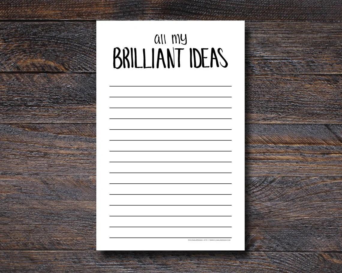 All My Brilliant Ideas No...