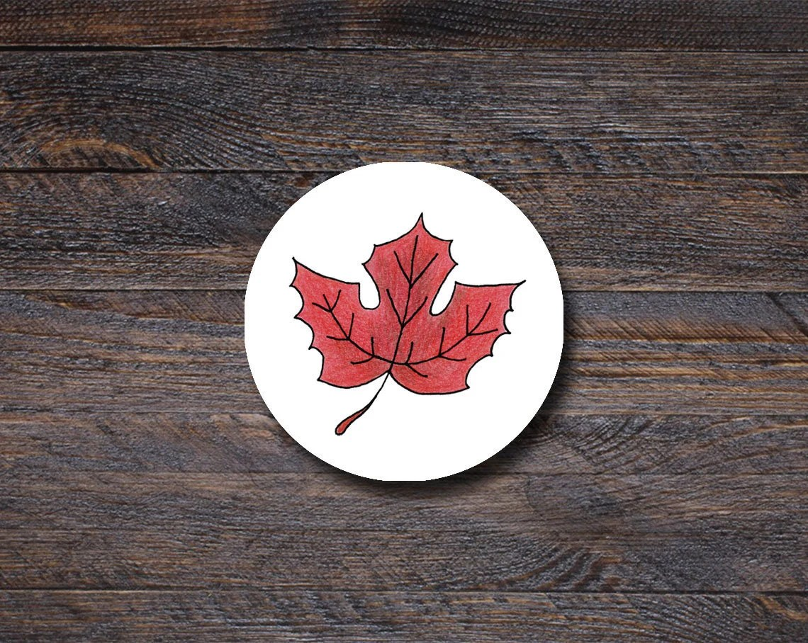 Maple Leaf Stickers, Fall...