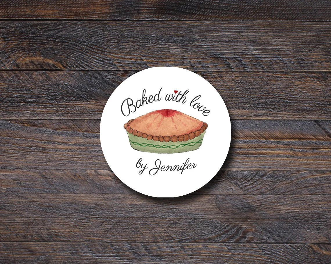 Baked With Love Stickers ...