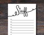 Stuff To Do List Notepad...