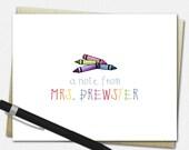 Crayon Note Cards - Perso...