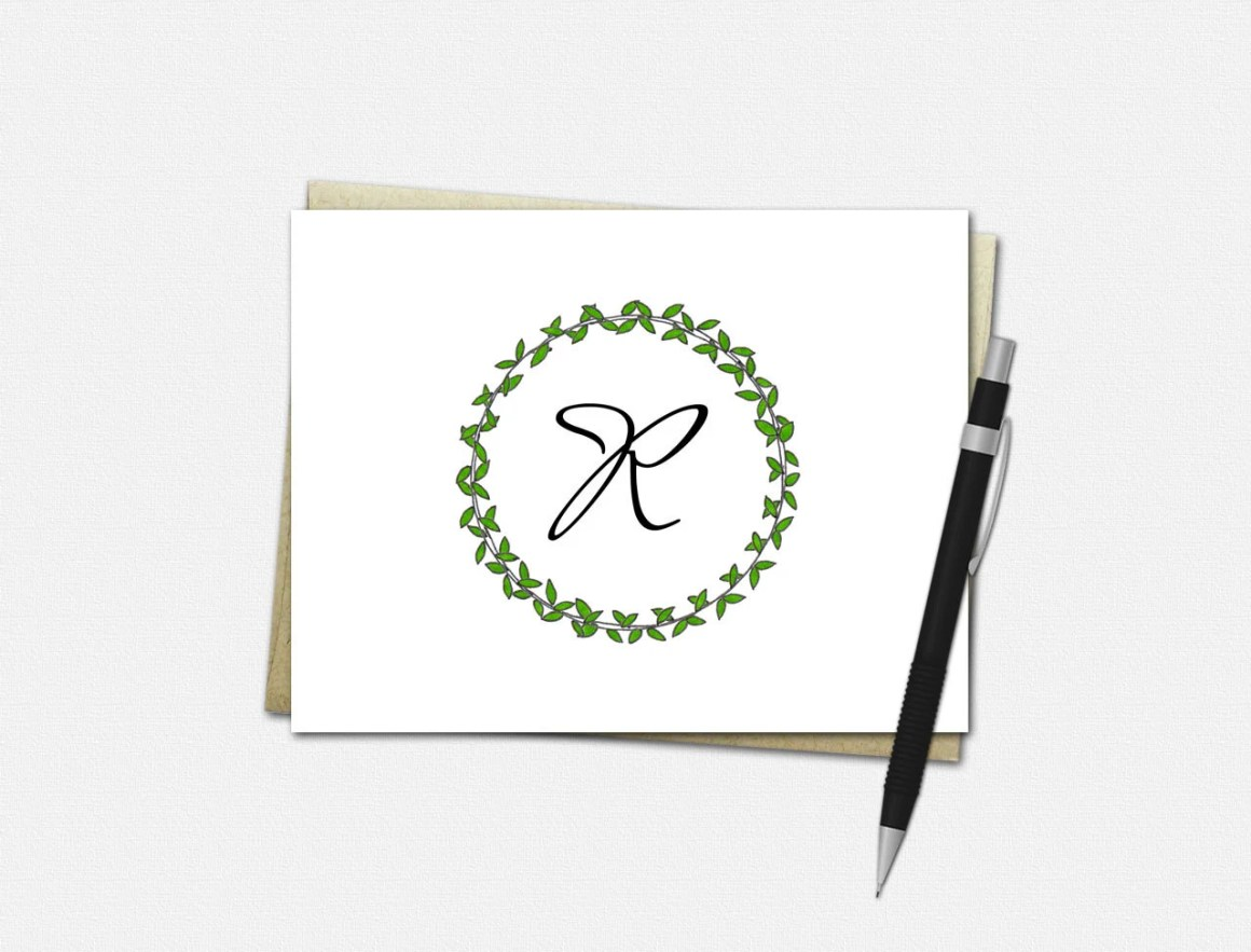 Monogrammed Note Cards - ...
