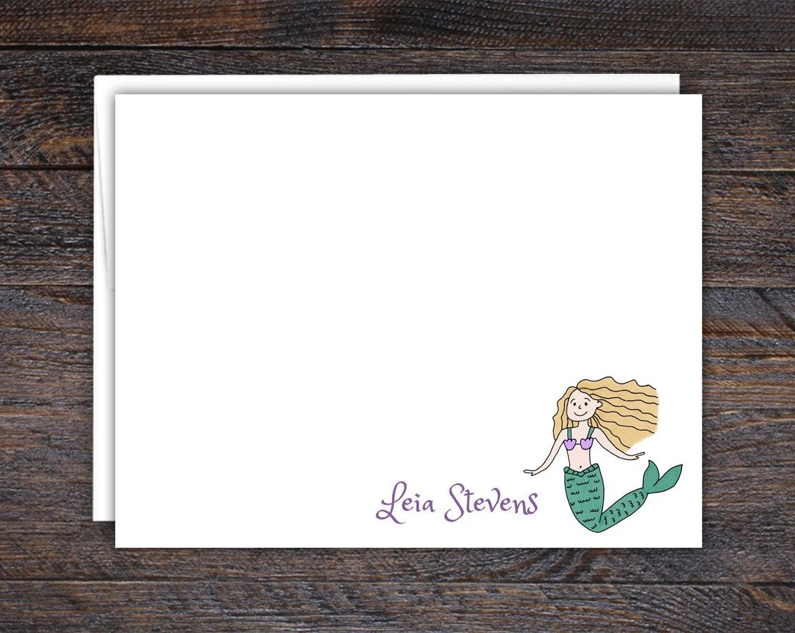 Custom Flat Note Cards, C...